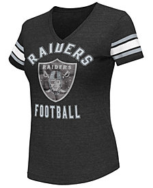 G-III Sports Women's Oakland Raiders Wildcard Bling T-Shirt