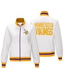 G-III Sports Women's Minnesota Vikings Field Goal Track Jacket