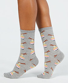 Hot Sox Women's Noodles Crew Socks
