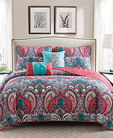 VCNY Home Casa Re`al Reversible 4-Pc. Twin Quilt Set
