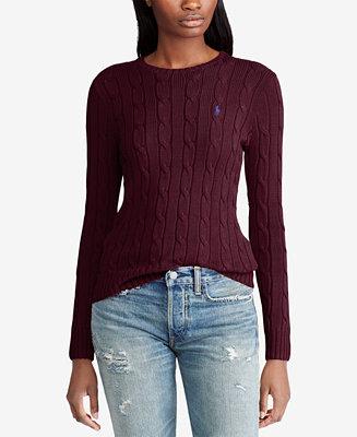 Polo Ralph Lauren Cable Knit Cotton Sweater Amp Reviews