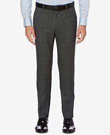 Perry Ellis Men's Performance Stretch Silm-Fit Plaid Dress Pants