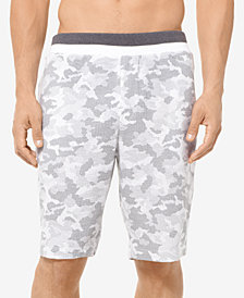 Michael Kors Men's Camo-Print Waffled Pajama Shorts