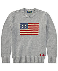 Polo Ralph Lauren Big Boys Graphic Cotton Sweater