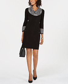 Jessica Howard Cowl-Neck Sweater Dress