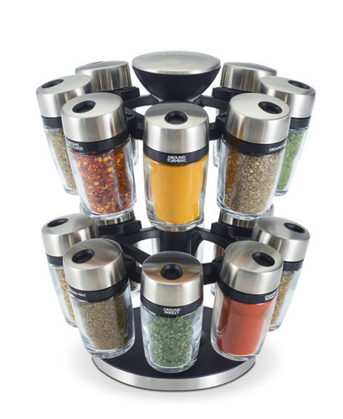 Cole & Mason - 16-Jar Herb & Spice Carousel
