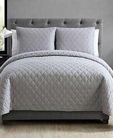 Buckingham Diamond 3-Pc. Quilted Full/Queen Coverlet Set