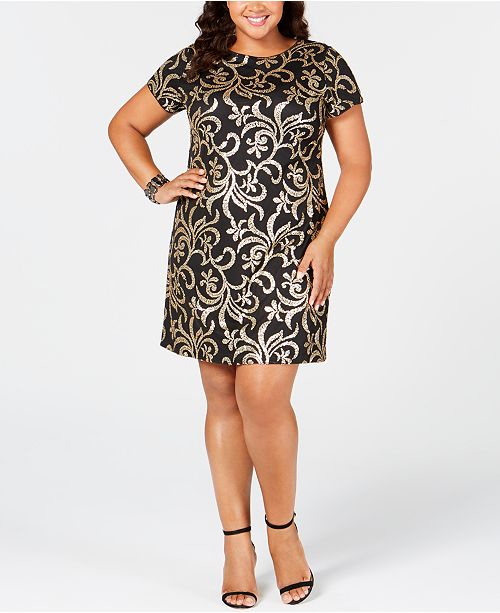 kensie Plus Size Sequin Sheath Dress & Reviews - Dresses ...