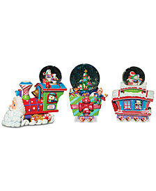 Christopher Radko Choo Choo Santa Snowglobe, Set of 3