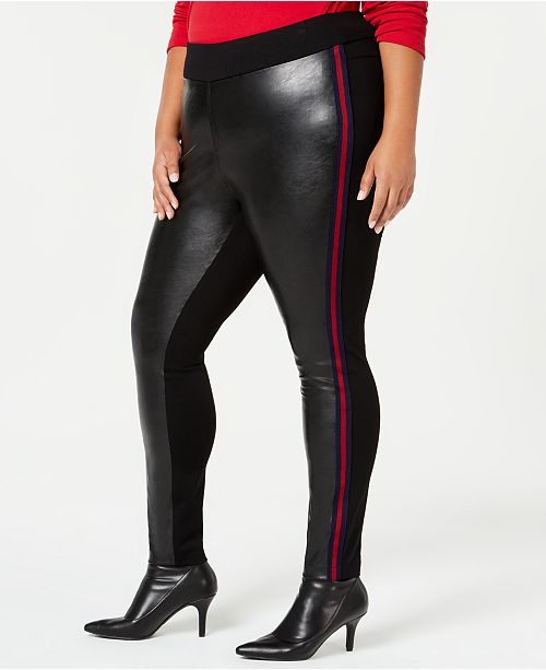 INC International Concepts I.N.C. Faux-Leather Leggings, Created for Macy's