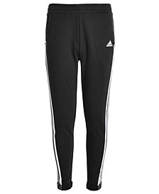 adidas Big Girls Roll-Cuff Cotton Jogger Pants