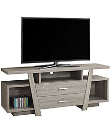 "Monarch Specialties 60""L Tv Stand With 2 Drawers in Dark Taupe"