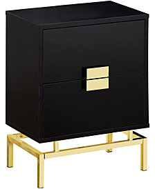 "Accent Table - 24""H Gold Metal"