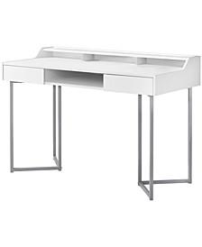 """48""""L Computer Desk in White"""