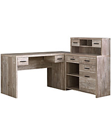 Monarch Specialties L/R Facing Wood Grain  Computer Desk in  Taupe