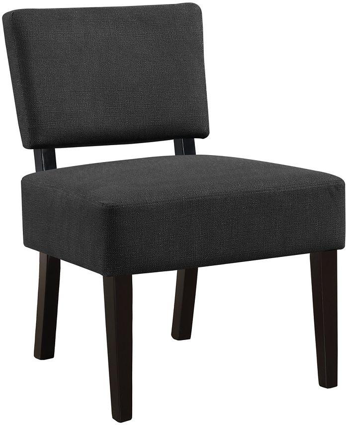 Monarch Specialties - Accent Chair - Dark Grey Fabric