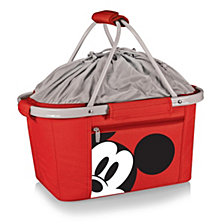 Picnic Time Mickey Mouse Button Eye Metro Basket Collapsible Cooler Tote
