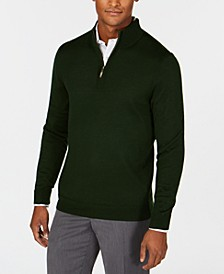 Men's Quarter-Zip Merino Wool Blend Sweater, Created for Macy's