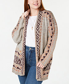 Style & Co Plus Size Jacquard Open Cardigan, Created for Macy's