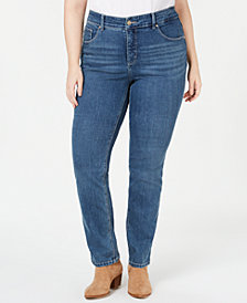Lee Platinum Plus Size Gwen Slimming Straight-Leg Jeans