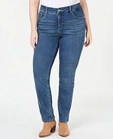 Lee Platinum Plus Size Gwen Slimming Straight-Leg Jeans