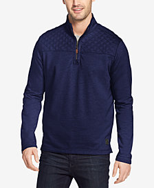 G.H. Bass Men's Mountain Wash Quarter-Zip Fleece Pullover