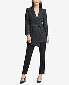 DKNY Asymmetrical Blazer & Skinny Pants, Created for Macy's