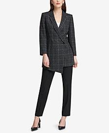 DKNY Asymmetrical Blazer & Skinny Pants, Created for Macy's