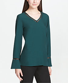 Calvin Klein Mesh-Trim Top