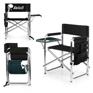Picnic Time Marvels Punisher Sports Chair