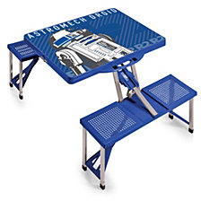 Picnic Time Star Wars R2D2 Picnic Table Portable Folding Table with Seats