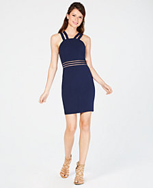City Studios Juniors' Double-Strap Bodycon Dress