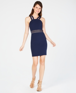 City Studios Juniors' Double-Strap Bodycon Dress