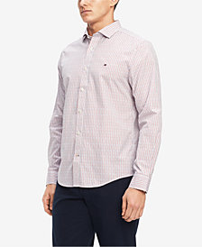 Tommy Hilfiger Men's Classic Fit Dash & Dot Dobby Shirt, Created for Macy's