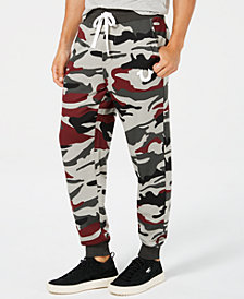 True Religion Men's Camouflage Logo-Print Joggers