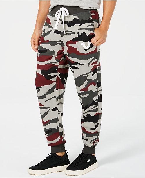 d8c2de44ae9c True Religion Men s Camouflage Logo-Print Joggers   Reviews - Pants ...