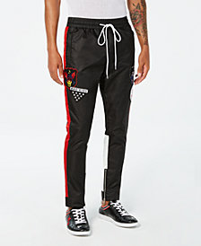Reason Men's Take Over Black Colorblocked Track Pants