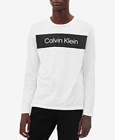Calvin Klein Men's Long-Sleeve Logo T-Shirt