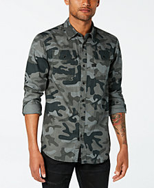 G-Star RAW Men's Landoh Camouflage-Print Shirt,  Created for Macy's