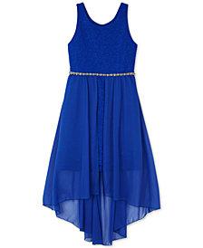 BCX Big Girls Plus Glitter-Knit Overlay Dress