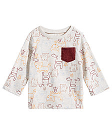 First Impressions Baby Boys Animal-Print Pocket T-Shirt, Created for Macy's