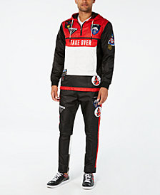 Reason Men's Take Over Black Colorblocked Track Suit Separates