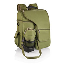Picnic Time Green Turismo Travel Backpack Cooler