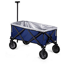 Picnic Time Blue Adventure Wagon Elite Portable Utility Wagon with Table & Liner