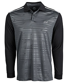 Attack Life by Greg Norman Men's Caven Printed Long-Sleeve Polo, Created for Macy's