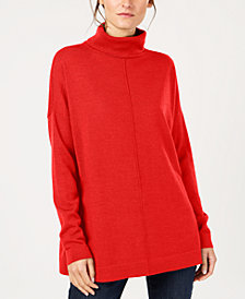 Eileen Fisher Tencel® Center-Seam Relaxed Turtleneck Sweater, Created for Macy's