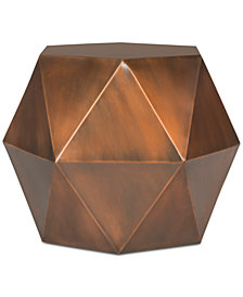 Astrid Faceted Side Table, Quick Ship