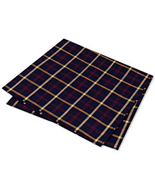 Club Room Men's Charles Plaid Silk Pocket Square, Created for Macy's