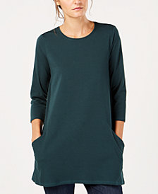 Eileen Fisher Organic Cotton Crew-Neck Tunic