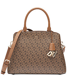 DKNY Paige Large Signature Satchel, Created for Macy's
